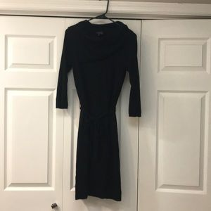Black 3/4 sleeve cowl sweater dress The Limited